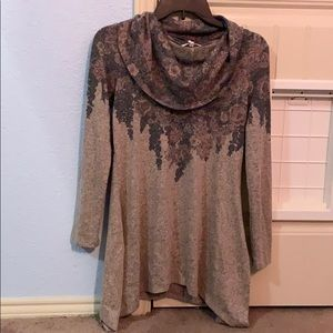 Maurice's Cowl Neck FlorL Pullover XS